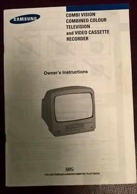 Samsung TVP5050IST Television Video Recorder Combi Instruction Guide Book Manual