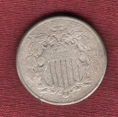 1866 with Rays Shield Nickel  First Year of Issue