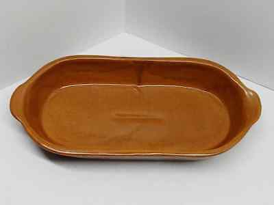BB Bybee, KY Signed Pottery Brown Tray Dish W/ Handles Kentucky Clay Marked L@@K