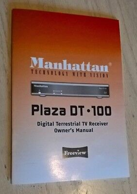 Manhattan Plaza DT-100 DT.100 Freeview Box Instruction Book Manual User Guide