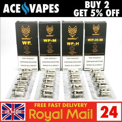 SNOWWOLF MFENG Kit / WOLF Tank Replacement Coils / Atomisers - 5 Packs SNOW