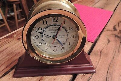 Howard Miller Maritime Tide and Time  Brass Clock W/ Stand