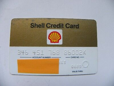 VINTAGE 1985 Shell OIL  ( Texas ) CREDIT CARD
