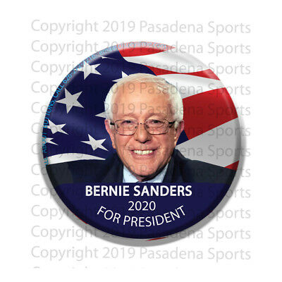 "BERNIE SANDERS for PRESIDENT 2020 CAMPAIGN BUTTON, 2.25""RB bsf, made in AZ USA"