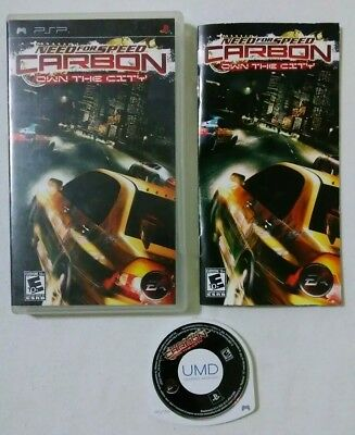 Need for Speed: Carbon (Sony PSP, 2006) NFS GAME COMPLETE W/ CASE & MANUAL RARE