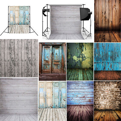 Vintage Wood Wall Floor Studio Prop Photography Background Cloth Photo Backdrop