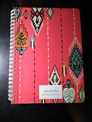 Vera Bradley Pueblo pattern in Salmon color Mini Notebook With Pocket Sealed!