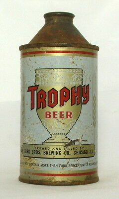 Trophy 12 oz. DNCMT 4% Alcohol Cone Top Beer Can-Chicago, IL.
