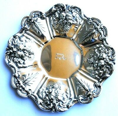 "REED & BARTON  FRANCIS I STERLING  11 1/2"" UNDER PLATE PLATTER X569 w/MONOGRAM P"