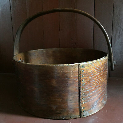 Antique Large Wood Measure with Swing Handle