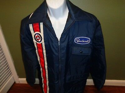 BEECHCRAFT  Avaiation Jacket WITH  Patches Sz LARGE