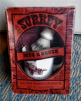 Vintage Shaving  MUG BRUSH & SOAP Model T Lizzie  Sealed Box Surrey Texas Cup