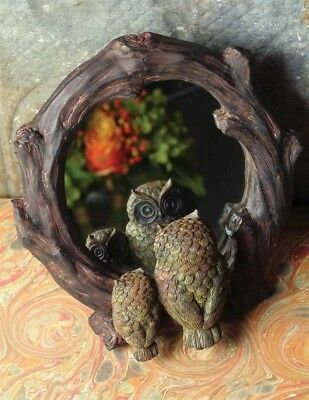 """Victorian Trading Co Owl Mirror 8"""" Easel Back"""