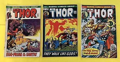 The Mighty Thor Comic #'s 202, 203, & 216 (1972-1973)