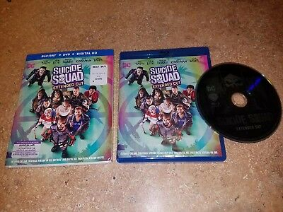 Suicide Squad (Blu-ray, 2016) EXTENDED CUT, EXCELLENT CONDITION WITH SLIPCOVER