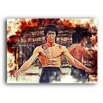 ACEO 2016 BRUCE LEE # 6 Limited 9/9 Hand Paint art sketch card artist signed
