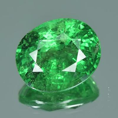 4.72 cts GRS Certified 100%Natural Vivid Green Color Unheated Tsavorite Garnet
