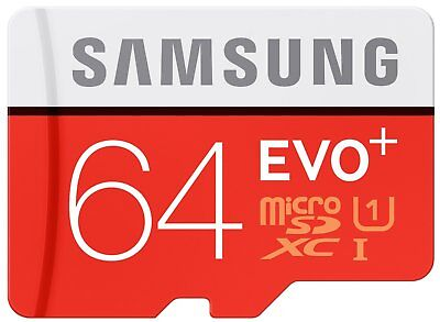 Micro SD Card SamSung Evo Plus 64GB Class 10 SDXC Memory With Adapter