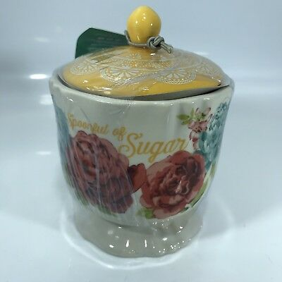 The Pioneer Womans Sugar Bowl Blossom Jubilee Stoneware with Lid B369