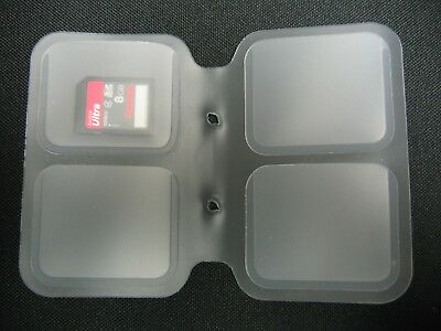 SD Card Protective Plastic Holder - Memory Card -  SDHC,SDXC Card Case - 4 Slots