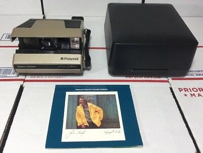 NEAR MINT Polaroid Spectra System Camera RARE GOLD First Edition+Case- WARRANTY