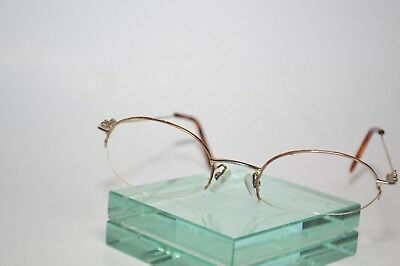 bf93218f42ad Vintage Gucci Sunglass Eyeglass Frames Semi-Rimless Gold Tone SPELLOUT ARMS  RARE