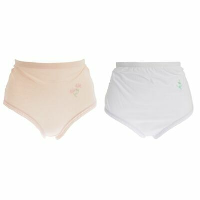 Pack of 12 Passionelle® Womens Rib Mama Briefs with Lace Top