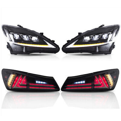 Pair For Lexus IS250 IS350 IS F 2006-2012 Headlights & Tail Lights Left & Right