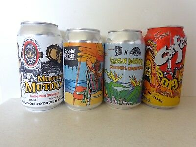 """murphy's Mutiny"", Sailor's ""birds"" Social's ""pinch Me"" & ""canfest 19"" Beer Cans"