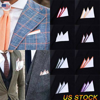 9a1ca35bd0da Men's Suit Pocket Towel Hanky Wedding Silk Normal Pocket Handkerchiefs  Decor USA