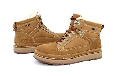 49ac935802e UGG AVALANCHE WATERPROOF Nubuck Suede Leather Chestnut Boots Mens Size 10 Us