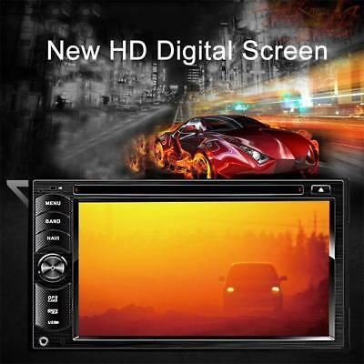 "6.2"" Double DIN Car Stereo DVD Player GPS Navigation Bluetooth Radio USB/SD /FM"