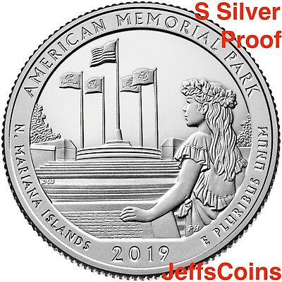 2019 S American Memorial Park Northern Mariana Islands 99% SILVER Proof Quarter