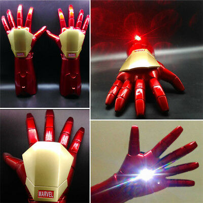 The Avengers Iron Man Gauntlet Laser Light Gloves In Box 1:1 Cosplay Prop Gloves