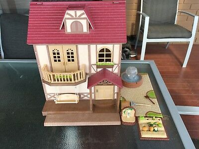 sylvainian families doible story house used