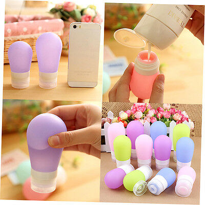 Portable Travel Silicone Bottle Shampoo Shower Lotion Sub-bottling Squeeze D1