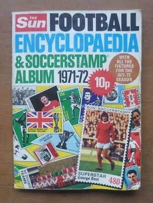 The Sun Soccerstamp Album, 1971/72 - Partially Completed (353 out of 491).