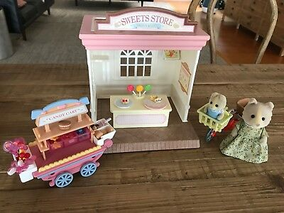 Sylvanian Families Candy Cart Sweet Store And Cycling With Mother Set