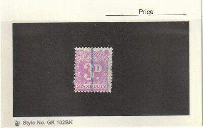 New South Wales 1940 Stamp Duty 3d Violet Single Used