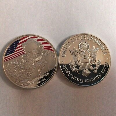 Abraham Lincoln silver Plated Colored Collection Commemorative coin