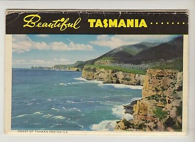 Foldout Beautiful Tasmania 16 Scenes Photography By Capt Frank Hurley Postcard