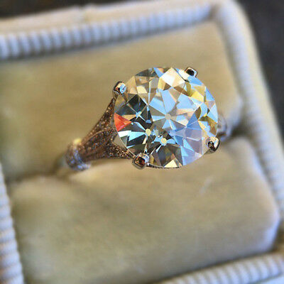 Round Cut White Diamond Vintage Engagement Ring Wedding Jewelry Gifts 2.50ct