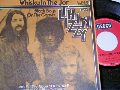 """Thin Lizzy Whisky in the Jar & Black Boys on the Corner (1973 German 7"""") 6497"""