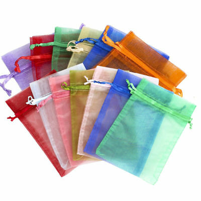 50/100x Candy Drawstring Organza Jewelry Wedding Gift Pouch Bags 10x15cm New