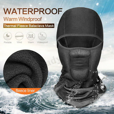 Waterproof Windproof Motorcycle Bike Thermal Fleece Balaclava Face Mask Helmet