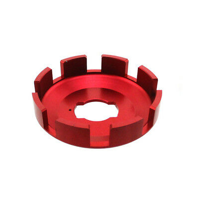Red Racing Clutch Vented Drum Basket Disc Plate Floater For Go Kart