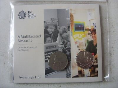 NEW !!!! 50 PENCE 2019 and 50 pence 1969 CELEBRATE 50 YEARS !!!!ROYAL MINT PACK