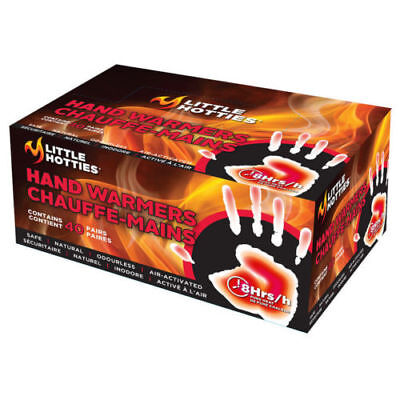 LITTLE HOTTIES HAND WARMERS COLD WINTER OUTDOOR SPORTS  FULL BOX of 40 PAIRS