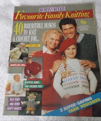 "Original Vintage 1987/88? ""woman's Weekly"" ""favourite Family Knitting"""