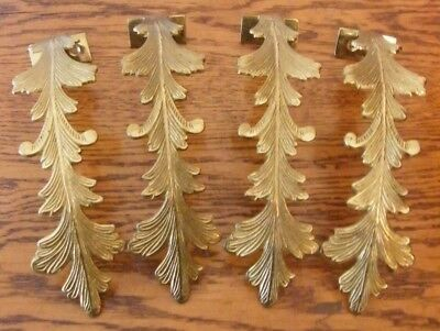 A Set Of 4 Reclaimed Brass Curtain Tie Backs